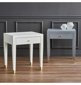 Claudette 1-Drawer Side table/Gray