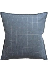 "Window Pane Wool Blue 1/2""flange 22x22"