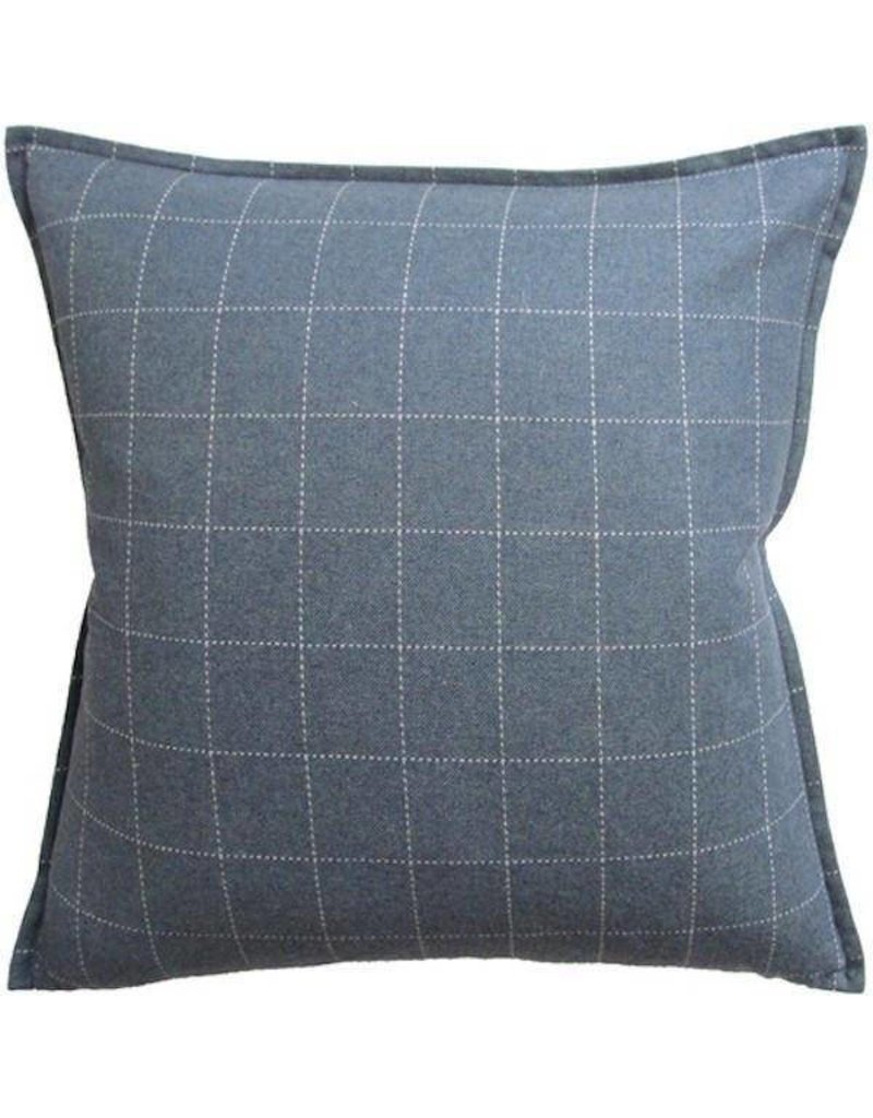 "Window Pane Wool Blue 1/2""flange 22x22"