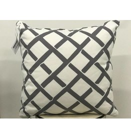 Kent Grey Pillow  19x19