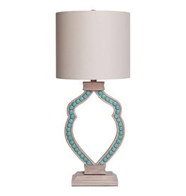 Turquoise Cabochon Table Lamp