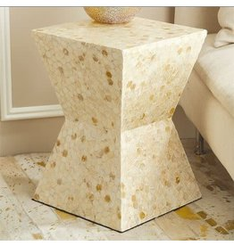 Hexagon Circles Stool 13.25W 13D 18.75H
