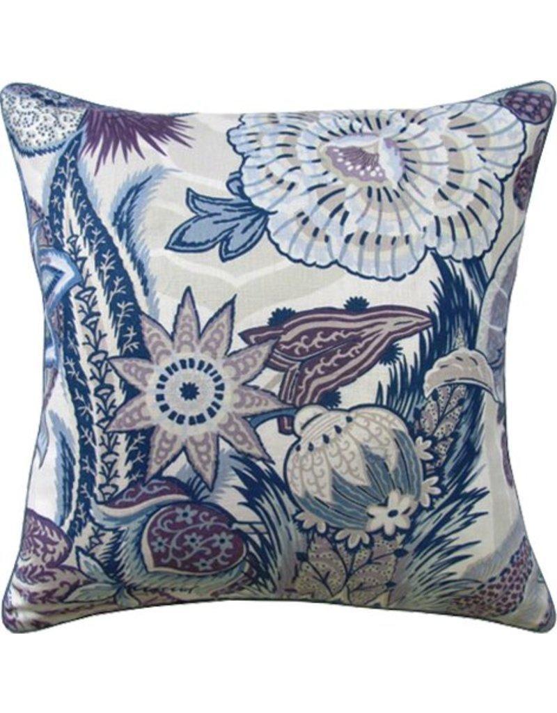 22X22 Pillow Zanzibar Hyacinth Piped