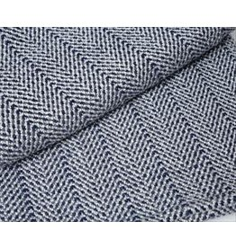 44x72 Navy, Granite, Silver Bamboo Dot Throw
