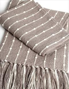 Platinum Bamboo Ribbon Throw 42x72