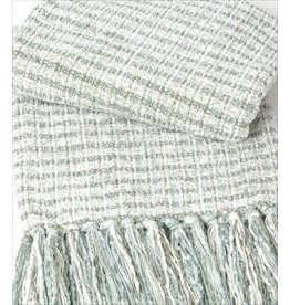 Ivory Mist Chenille Tweed Throw 42x72