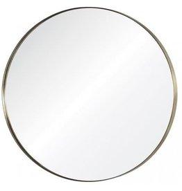 """36"""" brass round mirror"""