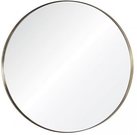 """Brass Round Mirror 36"""""""