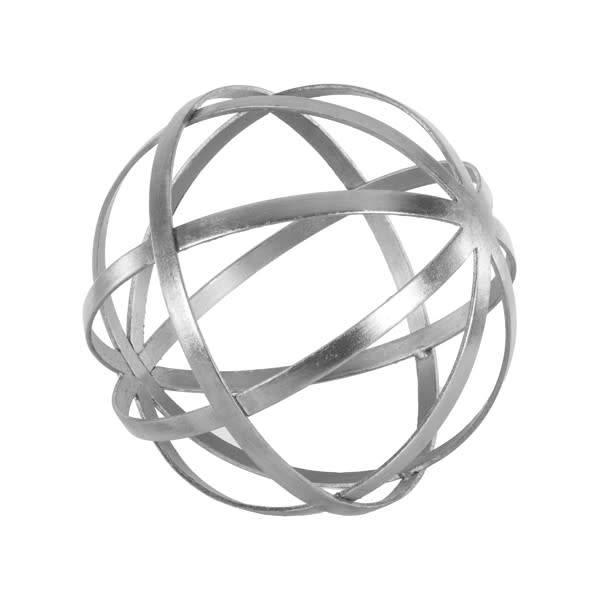 "Titan 12"" Silver Sphere"