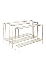 "Woodard Sleek Nickel Console 50""W X 32""H X 10""D"