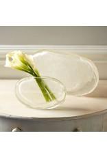 Crackled Crystal Ellipse Vase Small