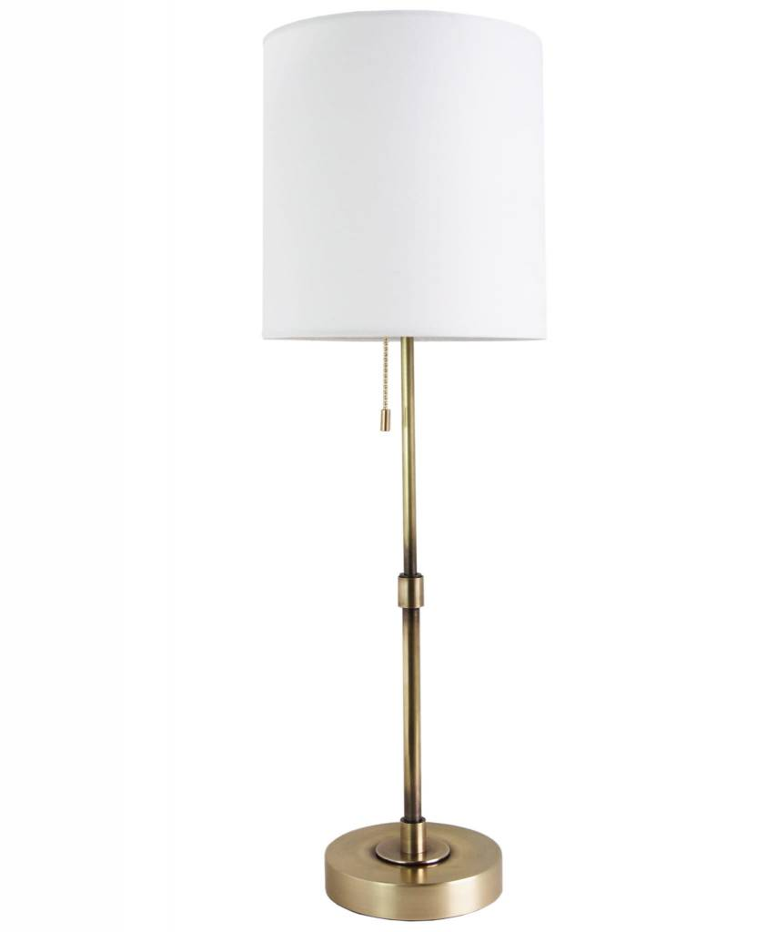 """Annapolis Tall Table Lamp - Antique Brass 25"""" h x 8""""w"""
