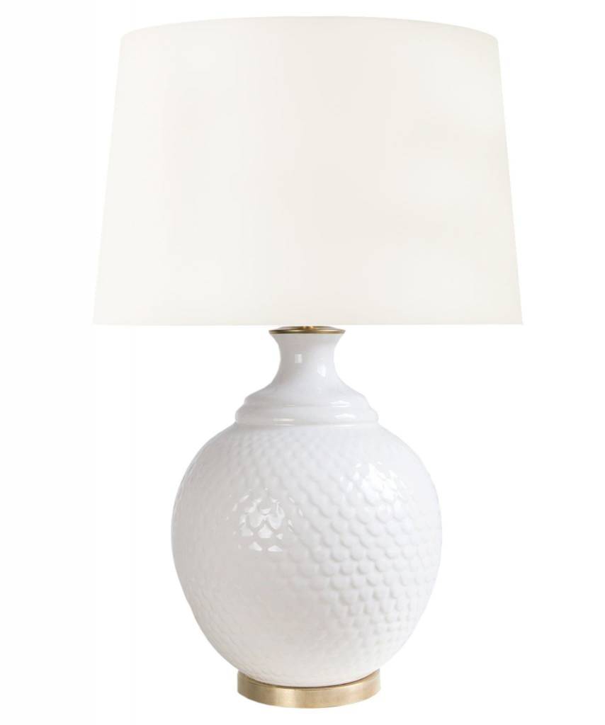 "Harrison Scaled Table Lamp - White 27.5""h x 15""w"