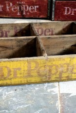 Yellow Dr Pepper Crate