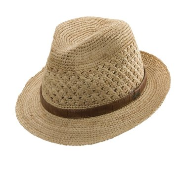 Christys' of London Vented Raffia Fedora, Christy's of London
