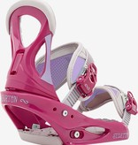 Burton Stiletto Snowboard Binding, Pink / Gray, L