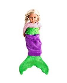 Mermaid Tail Blanket for Dolls - Assorted Colors