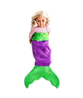 Blankie Tail Mermaid Tail Blanket for Dolls - Assorted Colors