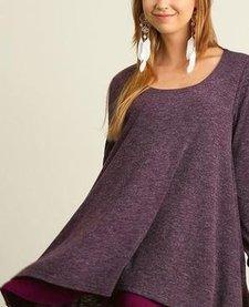 Long Sleeve Layered Flare Dress -FoxBox1