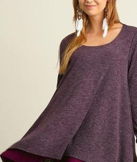 Umgee Long Sleeve Layered Flare Dress -FoxBox1