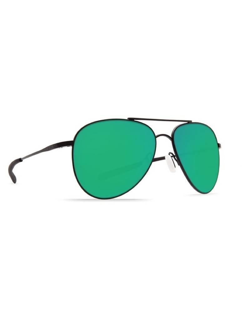 Costa Costa Cook Sunglasses Green Mirror 580P Satin Black