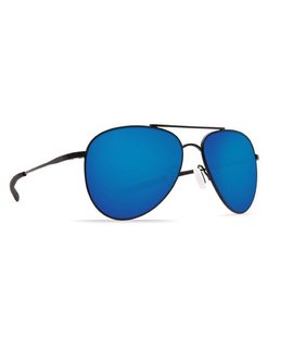 Costa Costa Cook Sunglasses Blue Mirror 580P Satin Black