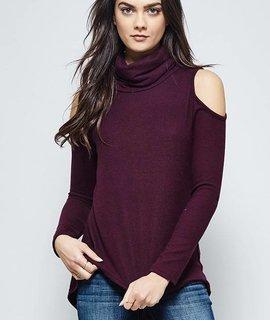 Promesa Promesa Long Sleeve Turtle Neck Sweater Top