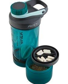 Avex MIXFIT ELITE+ Shaker w/Storage Deep Sea 22oz