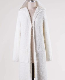 Long Duster Supersoft White Cardigan
