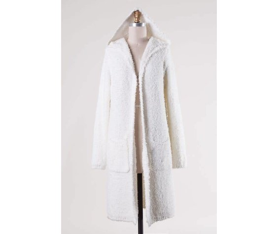 Fascination Long Duster Supersoft White Cardigan