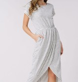 Listicle Striped Knit Dress with Pockets