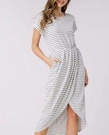 Striped Knit Dress with Pockets