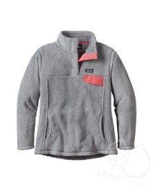 Patagonia Girls Re-Tool Snap-T Pullover Tailored Grey- Nickel X-Dye