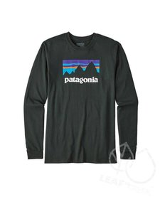 Patagonia Men's Long-Sleeve Shop Sticker Cotton T-Shirt