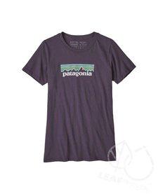 Patagonia Women Pastel P-6 Logo Cotton Crew T-Shirt