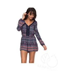 Roxy Feed The Rhythm Long Sleeve Romper