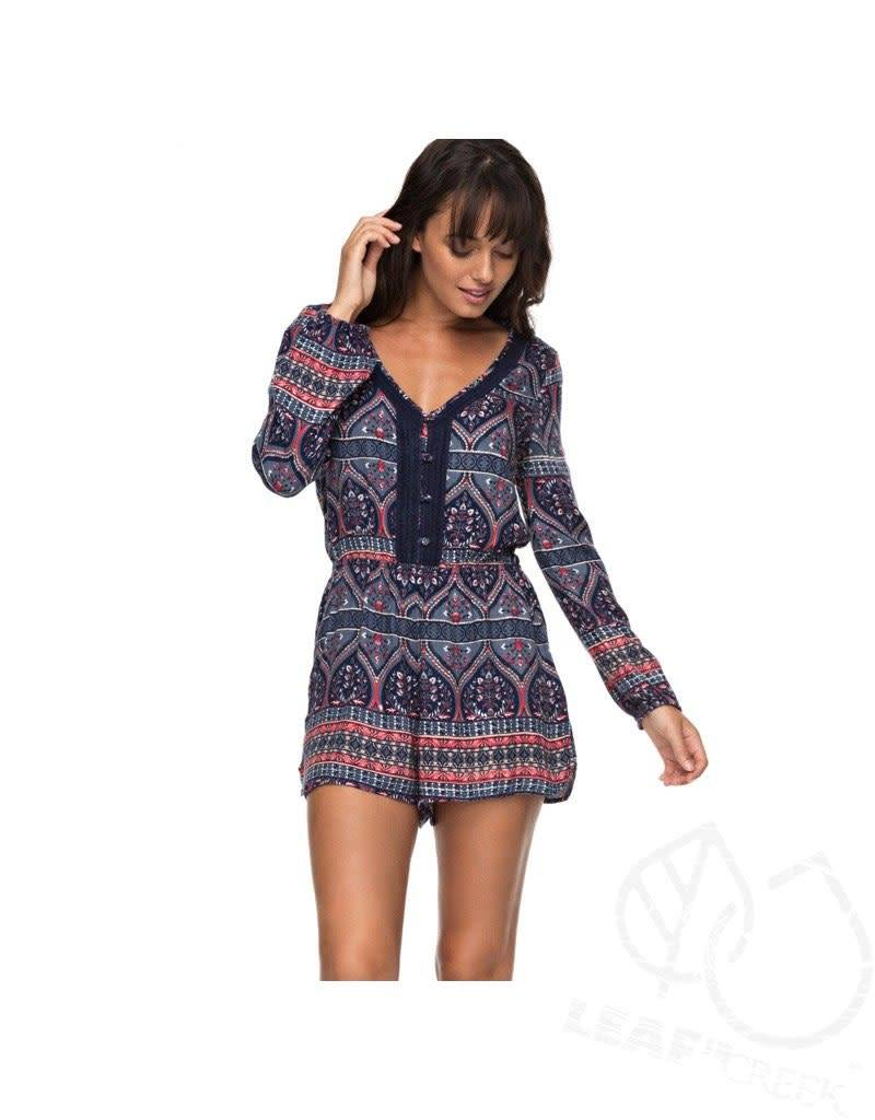 Roxy Roxy Feed The Rhythm Long Sleeve Romper
