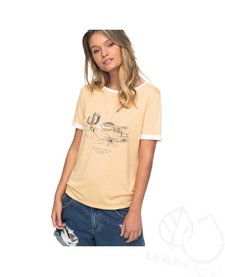 Roxy Puerto Pic Golden Sunset Ringer Tee