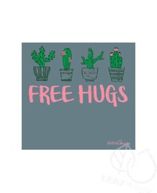 Anna Grace Tri Blend Short Sleeve Free Hugs Tee