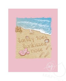 Anna Grace Comfort Colors Short Sleeve Sandy Toes Tee