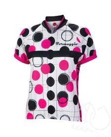 Formaggio Bubble Women's Cycling Jersey -White/Fuchsia/Black