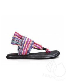 Sanuk Women Yoga Sling 2 Prints Magenta/Multi Tribal Stripe