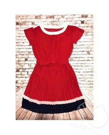 Woven Dress with Contrast Trim