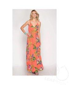 Cami Tropical Print Maxi Dress