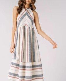 Striped Halter Neck Woven Dress