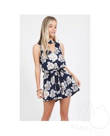 Floral Choker Style Romper