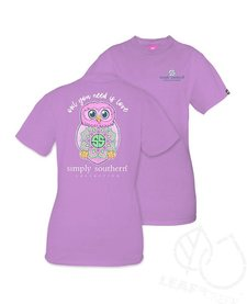 Simply Southern Owl You Need Is Love Tee