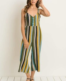 Cropped Cami Striped Jumpsuit