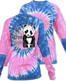 Simply Southern Eat Sleep Be Cute Panda Long Sleeve Tee