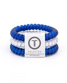 Teleties College Collection 3 Pack Hair Ties Big Blue